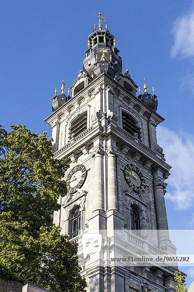 Belfried  UNESCO Weltkulturerbe  Place Saint-Germain  Mons  Hainaut  Belgien  Europa