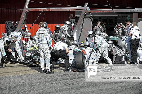 Nico Rosberg  GER  MercedesGP W03  bei Formel 1 Testfahrten vom 21.-24.2.2012 auf dem Circuito de Catalunya bei Barcelona  Spanien  Europa