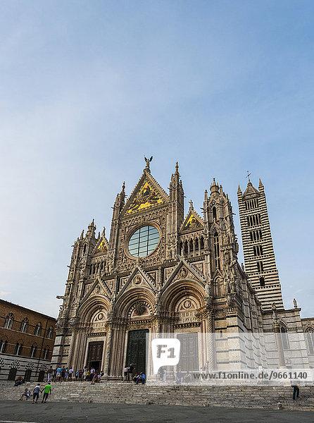 Dom von Siena oder Cattedrale di Santa Maria Assunta  Siena  Toskana  Italien  Europa