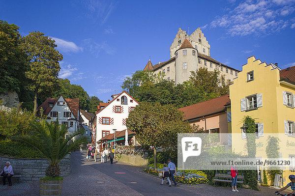 Burg Meersburg  Altes Schloss  Meersburg  Baden-Württemberg  Deutschland  Europa