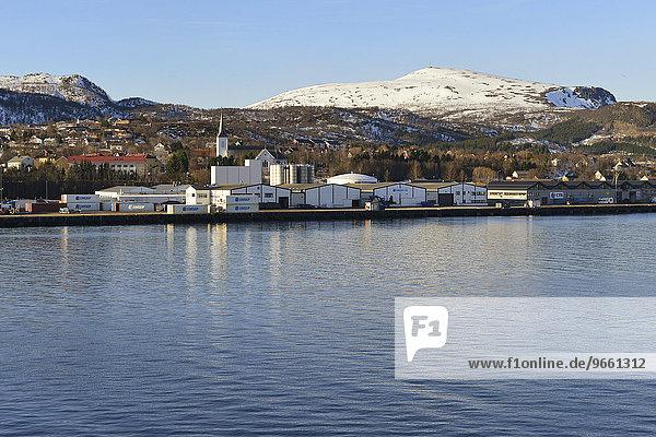Ortsansicht  Sortland  Insel Langøya  Nordland  Vesterålen  Norwegen  Europa