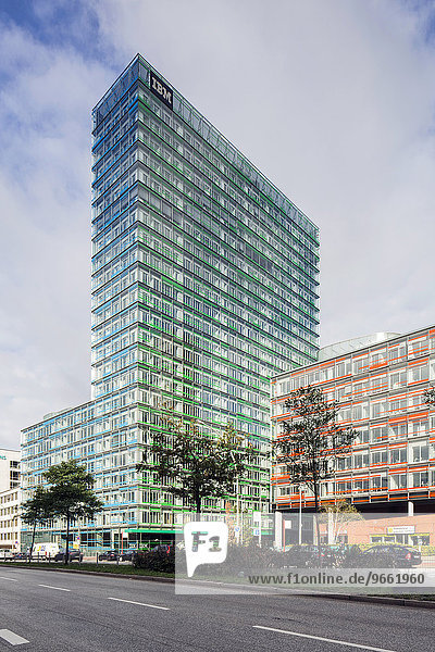 Berliner-Tor-Center  Bürohochhäuser  ehemaliges Polizeipräsidium  St. Georg  Hamburg  Deutschland  Europa