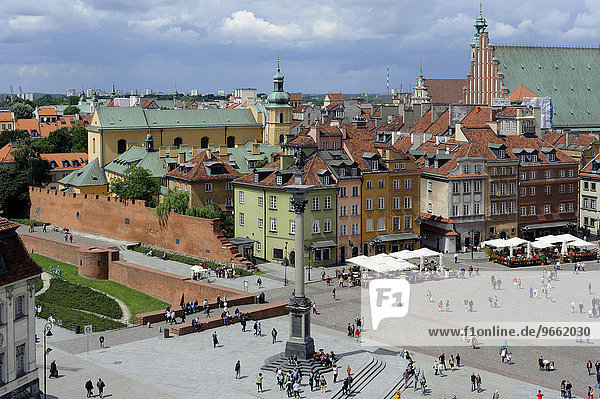 Castle Square with Sigismund's Column  Kolumna Zygmunta  Warsaw  Mazovia Province  Poland  Europe