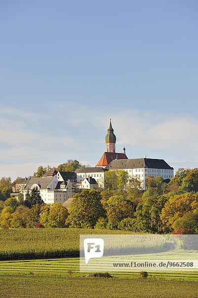 Klosterkirche Andechs  Benediktinerkloster  Andechs  Oberbayern  Bayern  Deutschland  Europa