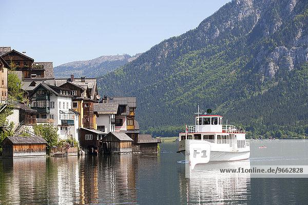 Hallstätter See  UNESCO-Weltkulturerbe Hallstatt?Dachstein Salzkammergut  Hallstatt  Salzkammergut  Oberösterreich  Österreich  Europa