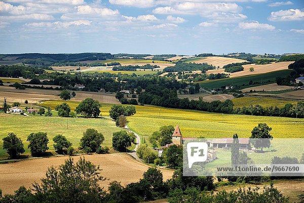 rollen Frankreich Schönheit Ländliches Motiv ländliche Motive Hügel Dorf Entdeckung etikettieren Gers