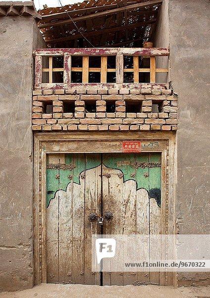 Tradition Tür Stadt China Geographie alt