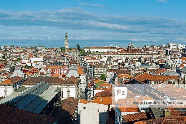 View on Porto City with Torre dos Clérigos  Portugal  Europe.