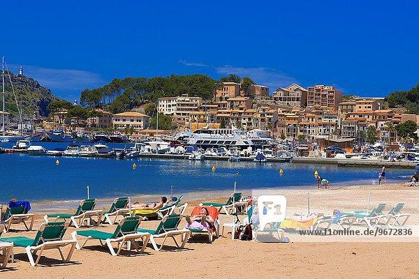 Europa Jachthafen Mallorca Balearen Balearische Inseln Mittelmeer Spanien