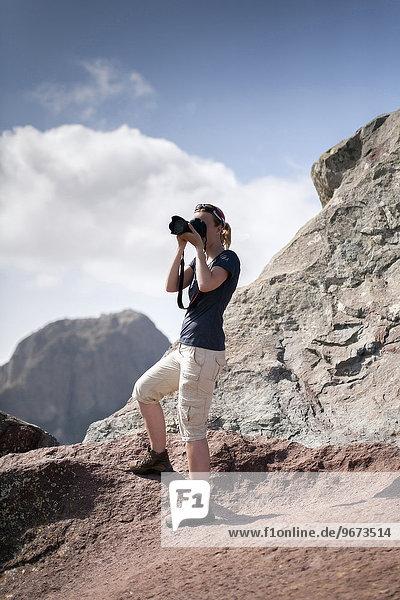 Frau Berg fotografieren