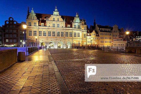 Evening at Zlota Brama (Golden Gate) in Gdansk  pomorskie province  Poland.
