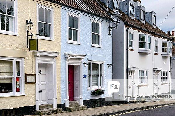 zeigen Tradition Gebäude Meer Dorf Ansicht Landhaus Tourismus Hampshire alt