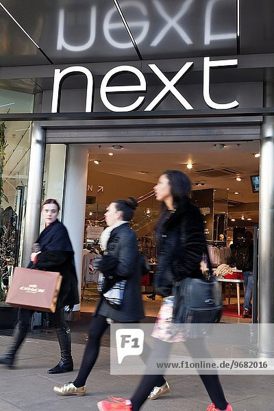 Next clothes store on Oxford Street  London  United Kingdom.