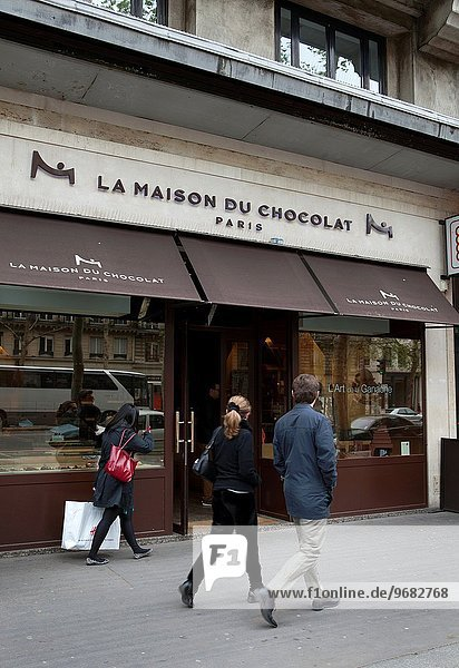 Paris Hauptstadt Frankreich Europa Wohnhaus Wahrzeichen Schokolade Laden Madeleine Prachtstraße
