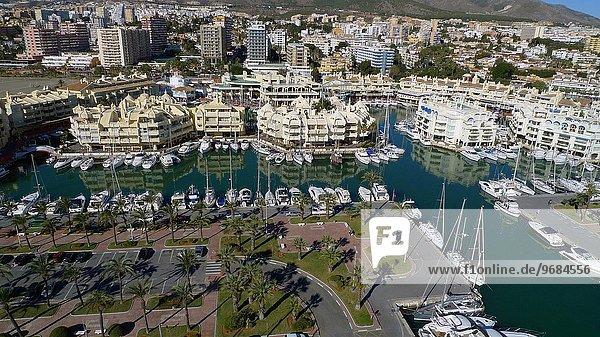 Ansicht Luftbild Fernsehantenne Andalusien Benalmádena Spanien
