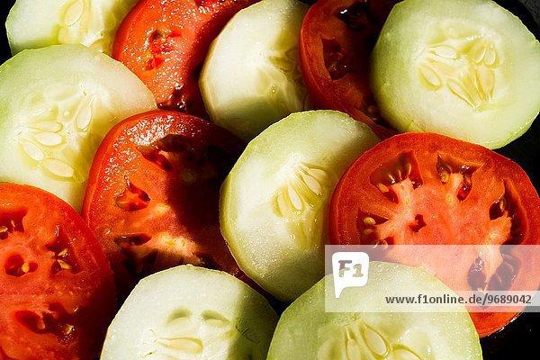 Scheibe Tomate Gurke Blechkuchen