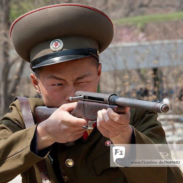 Soldat schießen Nordkorea