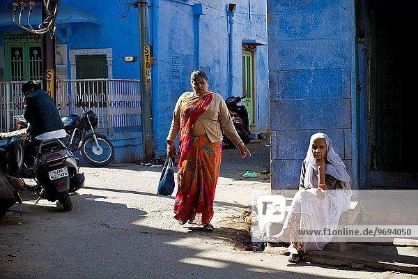 Frau Indien Jodhpur Rajasthan