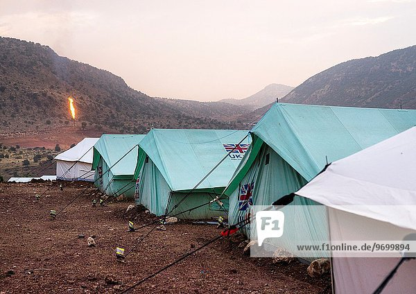 camping frontal Feld Irak Öl Flüchtling