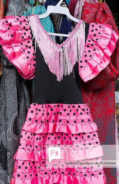 Tradition Tänzer Close-up pink jung Mädchen Kleidung Flamenco Kleid Granada Spanien