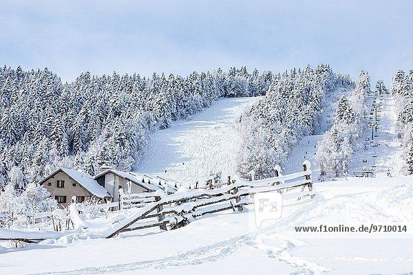 Frankreich Wintersportort Savoie
