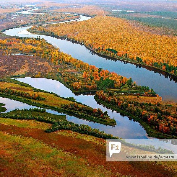hoch oben Herbst Ansicht Sibirien