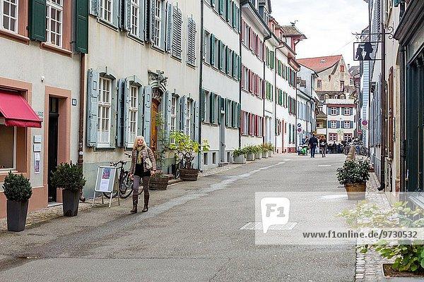 Europa Stadt Basel alt Schweiz