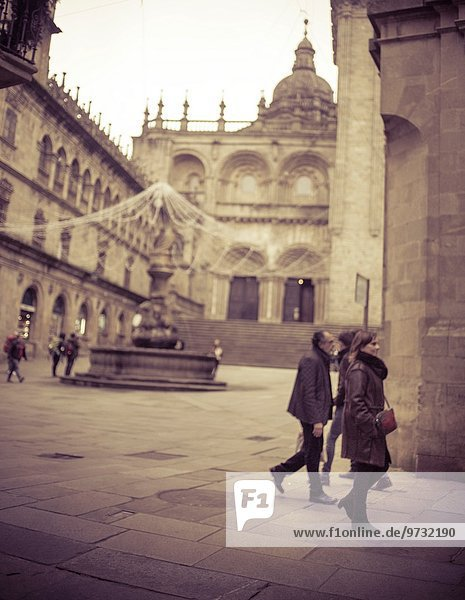 Mensch Menschen gehen Galicien Spanien