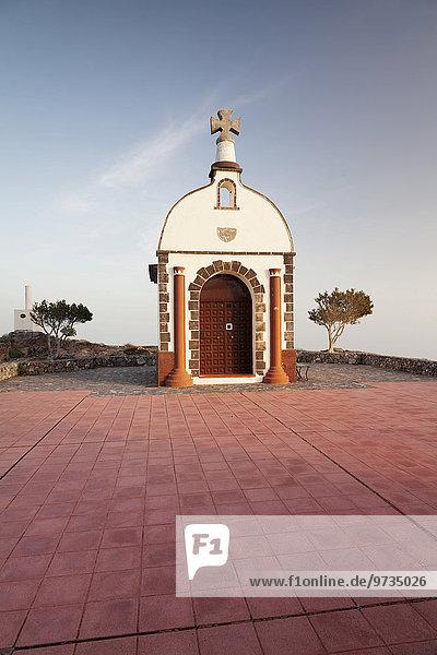 Ermita de San Isidro chapel on Roque Calvario peak  Alajero  La Gomera  Canary Islands  Spain  Europe