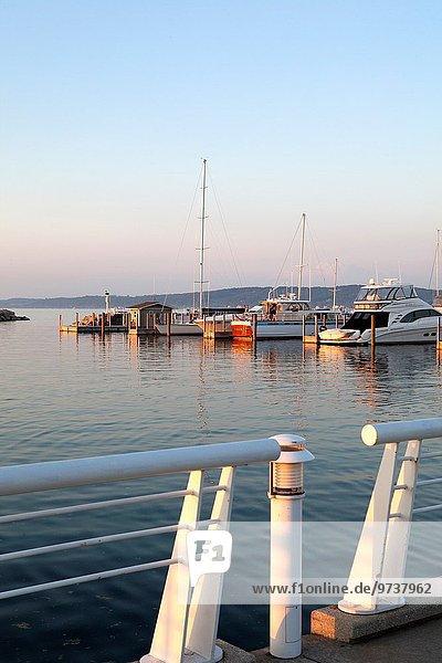 Fischereihafen Fischerhafen Vereinigte Staaten von Amerika USA Jachthafen Yacht Michigansee Michigan