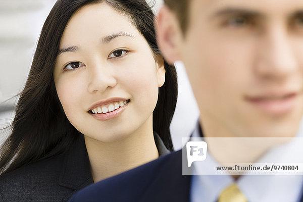 Geschäftsfrau lächeln japanisch