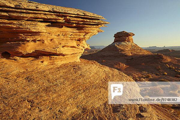 Felsbrocken Vereinigte Staaten von Amerika USA Landschaft Wüste Anordnung Arizona Page