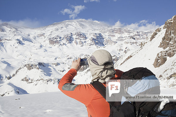 Berg Fotografie nehmen Hispanier Schnee wandern