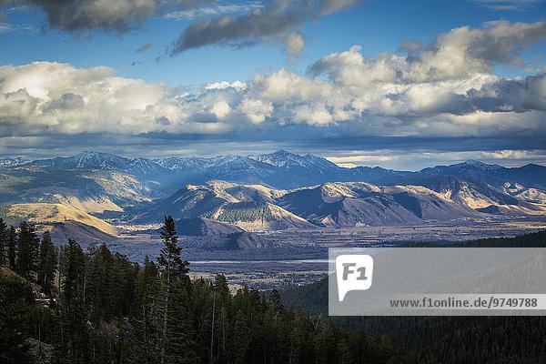Landschaftlich schön landschaftlich reizvoll Berg Vereinigte Staaten von Amerika USA Ansicht Jackson Wyoming