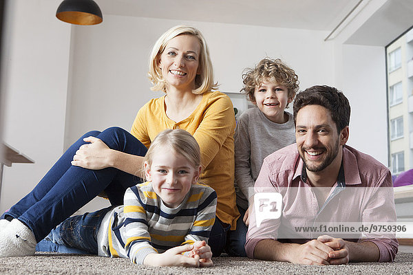 Portrait of happy family at home, Portrait of happy family at home