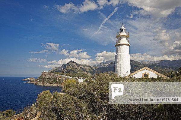 Spanien  Mallorca  Port de Soller  Leuchtturm von Cap Gros