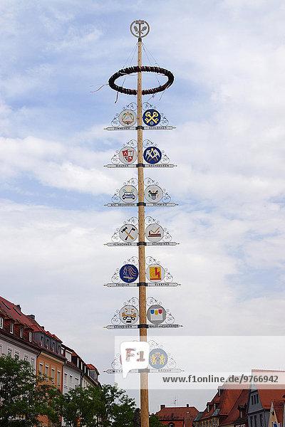 Maibaum  Bayreuth  Bayern  Deutschland