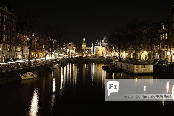 Amsterdam bei Nacht  Niederlande