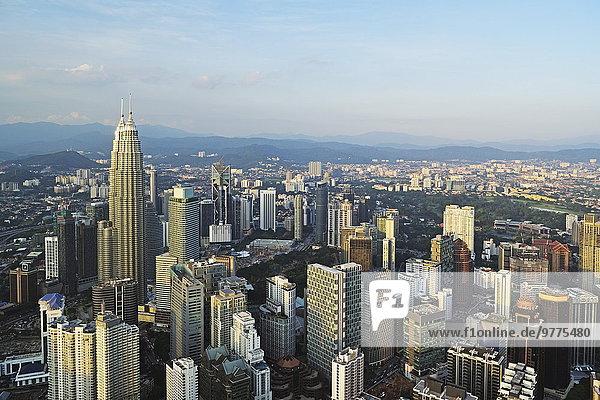 Kuala Lumpur Hauptstadt Skyline Skylines Südostasien Asien Malaysia