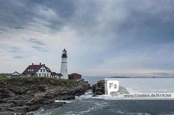 Amerika Geschichte Leuchtturm Nordamerika Neuengland Verbindung Maine