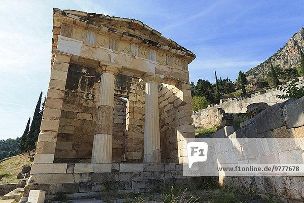 Europa UNESCO-Welterbe Delphi Griechenland Peloponnes