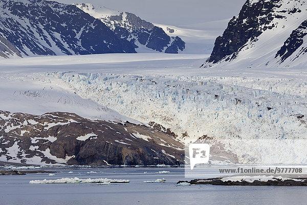 Europa Berg Schnee Norwegen Gletscher Rückansicht Arktis Skandinavien