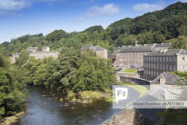 Großbritannien Stadt Fluss Ansicht UNESCO-Welterbe neu Schottland