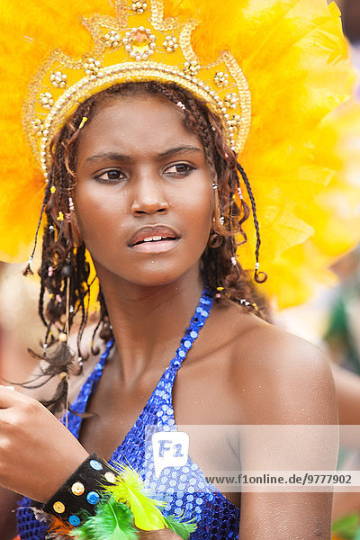 hoch oben Frau Kleidung Karneval Brasilien Pernambuco Südamerika
