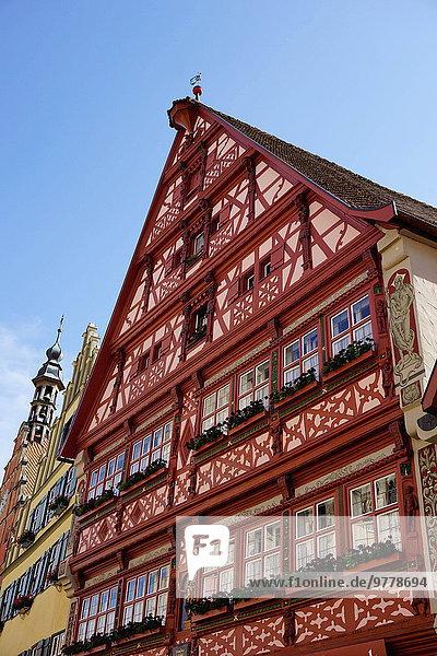 Europa Gebäude bunt Zimmer Bayern Franken Deutschland
