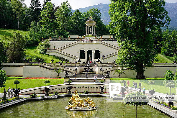 Europa Monarchie Palast Schloß Schlösser Garten König - Monarchie Bayern Deutschland Villa