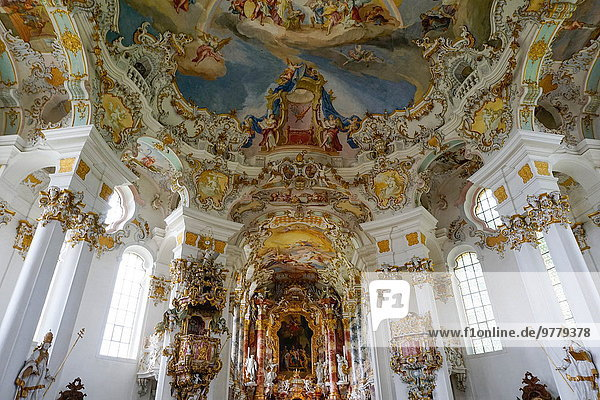 Europa weiß Kirche UNESCO-Welterbe Bayern Deutschland
