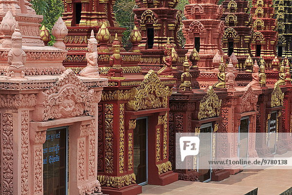 Südostasien Vietnam Asien Kambodscha Friedhof