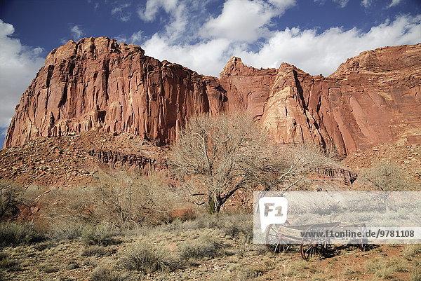 Amerika Nordamerika Verbindung Capitol Reef Nationalpark Utah