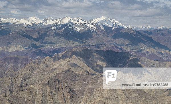 Delhi Hauptstadt über fliegen fliegt fliegend Flug Flüge Himalaya Asien Indien Leh